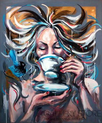 Kamila Jarecka-BLUE CAFFEE-Akryl