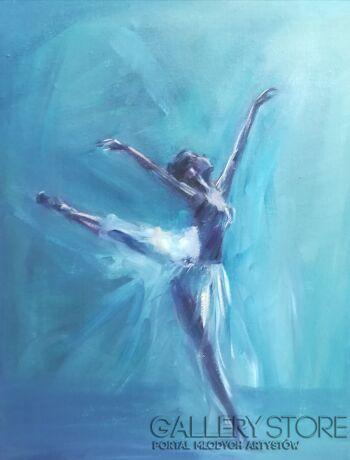 Kamila Krętuś-baletnica -Olej