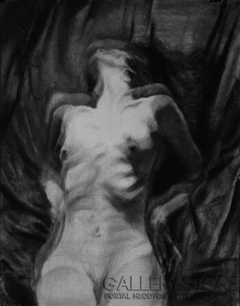 "Kamila Ossowska-""Inferno"" - rysunek na papierze-Rysunek"