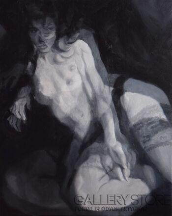 "Kamila Ossowska-""Pantomima"" - obraz olejny na płótnie-Olej"