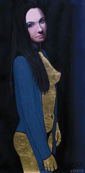 Karolina Gubała-Złota kobieta II-Akryl