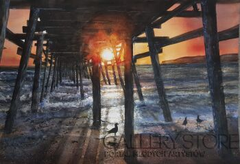 Karolina Majer-San Clemente otulone słońcem-Akwarela