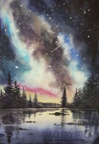 Karolina Majer-Wielka samotność-Akwarela