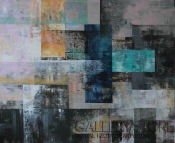 "Kasia Puchowska-""Patchwork... 2""-Akryl"
