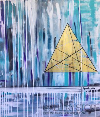 Kasia Puchowska-Złoty trójkąt-Akryl