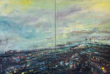 Katarzyna Kabzińska-Masionek-Modern Landscape-Olej