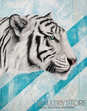Katarzyna Pyka-Biały Tygrys-Akryl