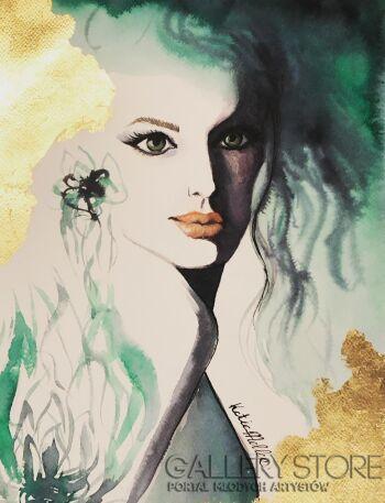 Katia Meller-Cienie rozlane green eyes . 3/20-Inkografia