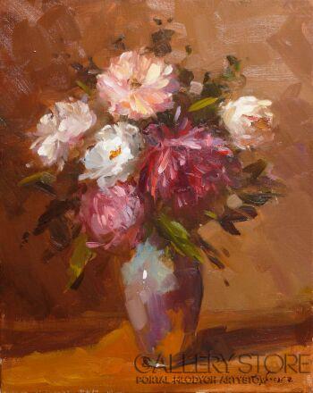 Krzysztof Tracz-Bukiet kwiatów_1-Olej