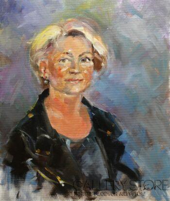 Krzysztof Tracz-Portret kobiety-Olej