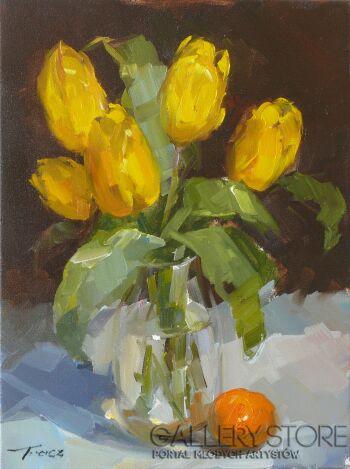 Krzysztof Tracz-Żółte tulipany_2-Olej