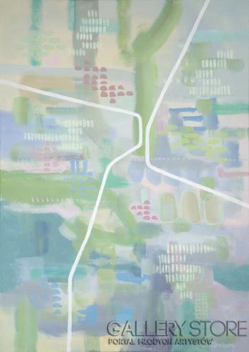 Laura Konieczny-Futurystyczny ogród-Akryl