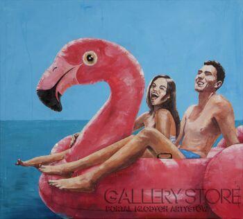 Lubosław Pirjankow-Flamingo-Akryl