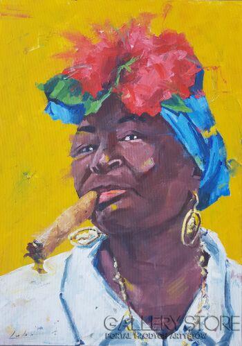 Lubosław Pirjankow-Havana woman-Akryl