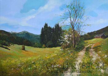 Magdalena  Kępka-Alpejskie łąki-Olej