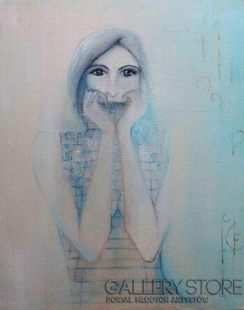 Magdalena Leszner-Skrzecz-Gdy sen przychodzi zimą-Olej