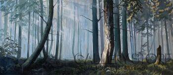 Magdalena Starzyńska-Poranek w lesie-Olej