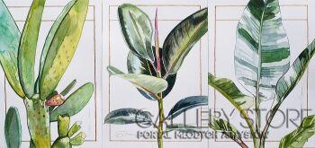 Magdalena Starzyńska-Tryptyk botaniczny-Akwarela