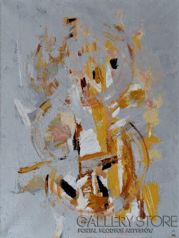 Magdalena Walulik-Abstrakcja - Obraz szary 04-Akryl