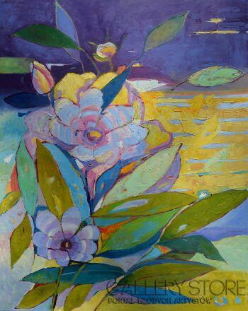 Magdalena Walulik-Kwiaty - piwonie-Olej