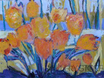 Magdalena Walulik-Kwiaty - Tulipany III-Olej