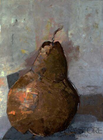 Magdalena Walulik-Martwa natura Gruszka minimalizm-Akryl