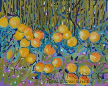 Magdalena Walulik-Mój pomarańczowy sen-Akryl