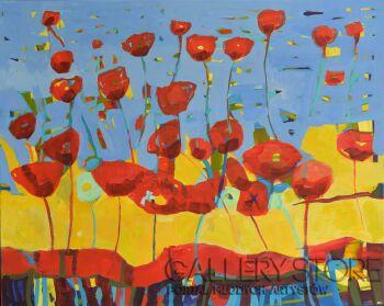 Magdalena Walulik-Obraz kwiaty - Maki-Akryl