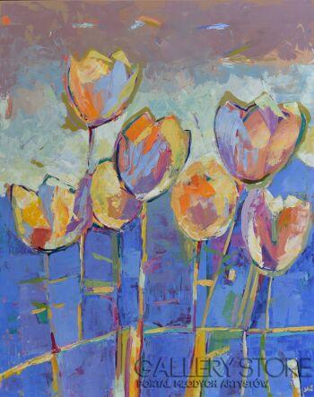 Magdalena Walulik-Obraz kwiaty - Tulipany II-Akryl