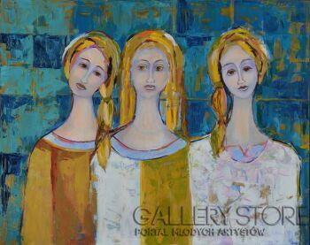 Magdalena Walulik-Obraz Trzy anioły II-Akryl