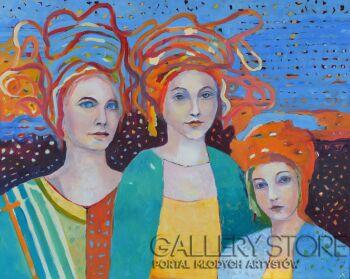 Magdalena Walulik-Obraz Trzy anioły III-Akryl