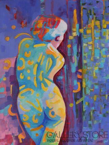 Magdalena Walulik-Z cyklu Ludzie - Kobiety - Patrząc na ciebie -Olej