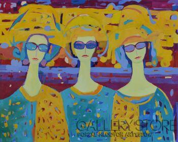 Magdalena Walulik-Trzy anioły VI-Akryl