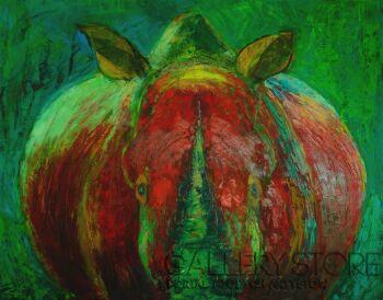 Magdalena Walulik-Zwierz - nosorożec-Olej
