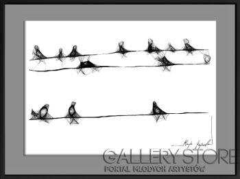 Maja Gajewska-15 - ptaki-Grafika