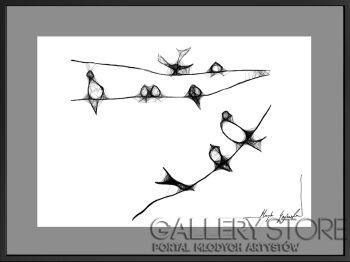 Maja Gajewska-16 - ptaki-Grafika