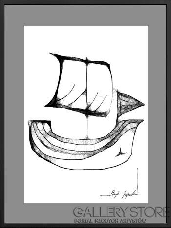 """Maja Gajewska-20 - """"statek""""-Grafika"""