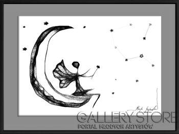 Maja Gajewska-116 - księżyc-Grafika