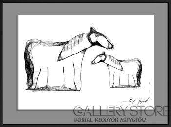 Maja Gajewska-34 - konie-Grafika