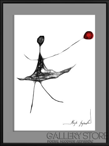 Maja Gajewska-85 - czerwony balonik-Grafika
