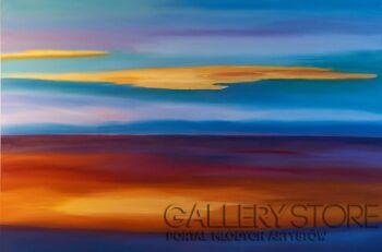 Małgorzata Burcicka-Kozieł-Zachód słońca nad Piombino-Olej