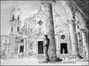 Małgorzata Żołnowska-Havana Katedra-Akwarela