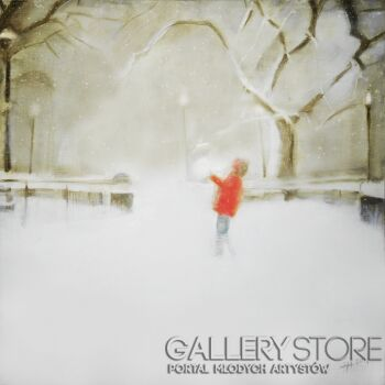 Małgorzata Nowak-Pierwszy śnieg-Olej