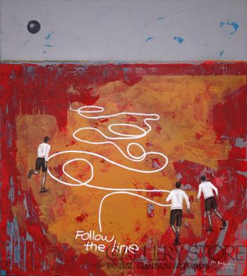 Małgorzata Rukszan-Follow the line-Akryl