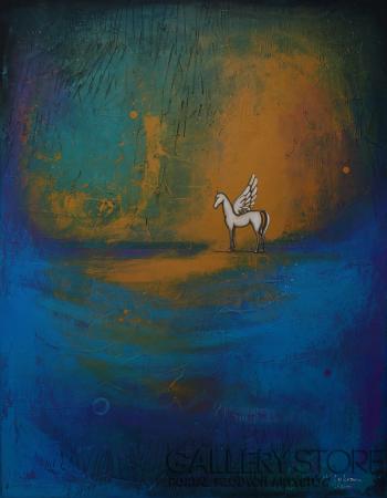 Małgorzata Rukszan-Zimne świecenie-Akryl