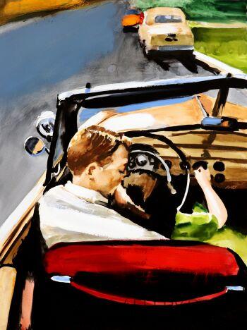 Marcin Kędzierski-Chevrolet Bel Air 1956-Akwarela