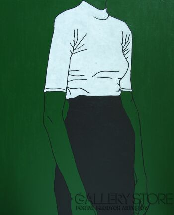 Marcin Lenczowski-Zielony #2-Akryl