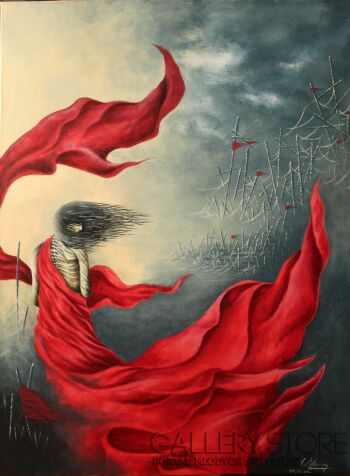 Marcin Michalewicz-Red hope-Akryl