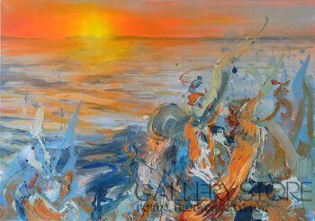 Marcin  Paprota-Goat Island Strand-Olej