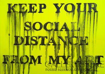 Marcin  Paprota-Keep your social distance -Technika mieszana